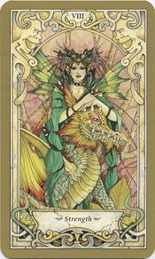 The Mystic Faerie Tarot- Strength